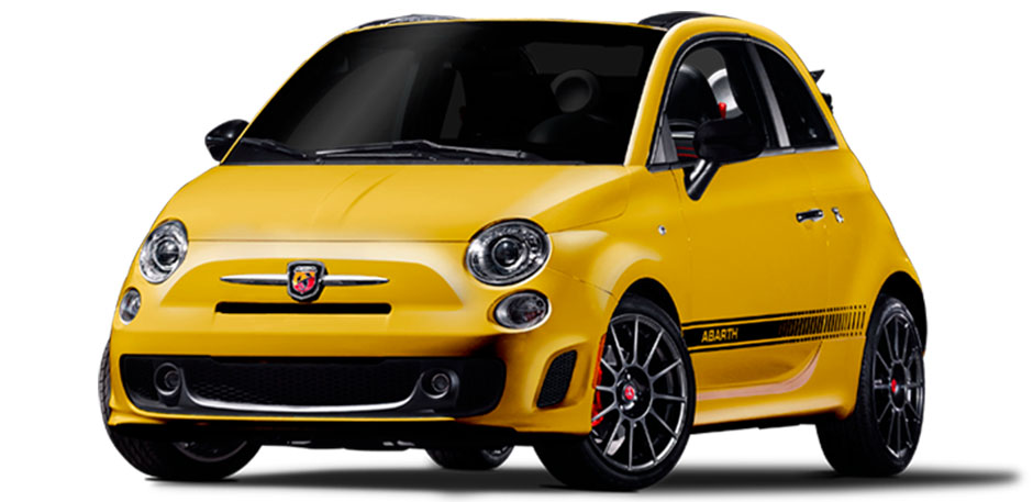 Luxury car rental in italy fiat 500 abarth