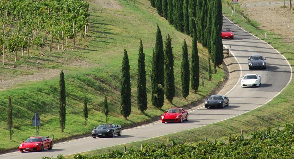Luxury car rental in italy ferrari tour tuscany
