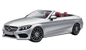 Luxury car rental in italy Mercedes Classe C 220 D Cabrio