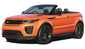 Luxury car rental in italy Range Rover Evoque Cabrio