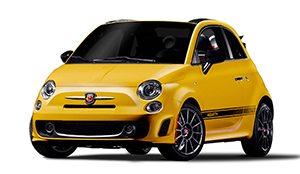 Luxury car rental in italy fiat 500 abarth cabrio