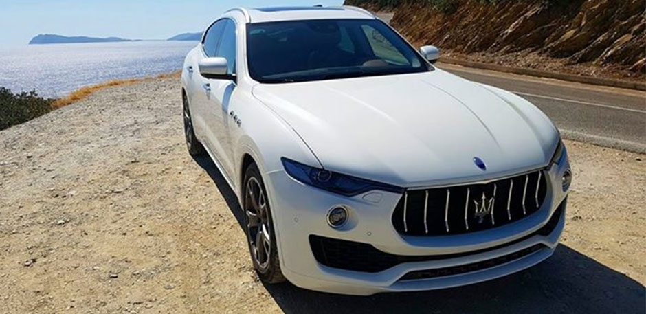 Luxury car rental in italy maserati levante